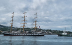 Le trois-mâts russe Pallada a passé le réveillon à Tahiti