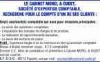 CABINET MOREL & OUDET RECHERCHE POUR LE COMPTE D'UN DE SES CLIENTS UN(E) ASSISTANT(E) COMPTABLE