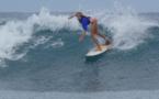 Aelan Vaast passe le round 1 à Boomerang beach