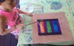 Page enfant : Kalani, 8 ans, expose ses premiers tableaux