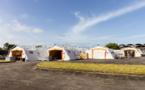 Guyane: démontage de l'hôpital de campagne de Cayenne