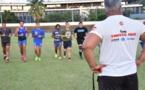 La sélection de rugby au travail