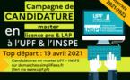 Master, licence pro ou LAP : ouverture des inscriptions à l'UPF