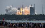 La rentrée dans l'atmosphère d'une fusée chinoise suivie de près par le Pentagone
