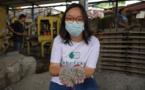Deux Indonésiennes s'attaquent à l'invasion du plastique brique après brique