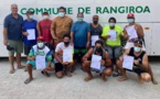 L'encadrement du va'a enseigné à Rangiroa