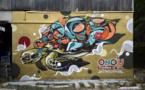 Un graffeur japonais s'annonce à la Ono'u Battle avec style