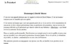 Hommage d'Edouard Fritch à David Marae