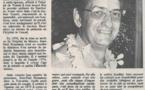 Décès en métropole du Dr Houssiaux, ancien pédiatre polynésien
