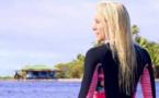 Tatiana Weston-Webb dans une vidéo magique sur la Polynésie