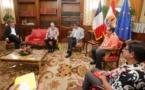 Une délégation de la Commission européenne reçue par le Président Fritch