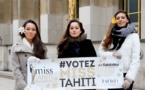 Les trois dauphines de Hinarere à Paris pour la soutenir