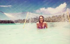 Lindsay Lohan en vacances en Polynésie française