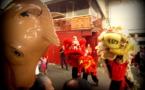 Nouvel an chinois : Danse des lions à la mairie de Papeete le 19 février 2015