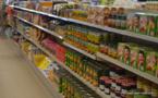 Indice des prix en baisse, mais prix de l'alimentation en hausse