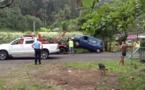 La voiture de la gendarmerie a fini dans l'eau...