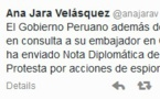Le Chili accusé d'espionnage par le Pérou