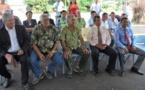 Les ministres réunis autour d'Edouard Fritch à Saint-Hilaire