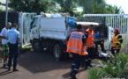 Mahina : Les freins du camion-poubelle lâchent, deux éboueurs blessés