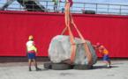 Une première pierre monumentale pour la ferme aquacole de Hao