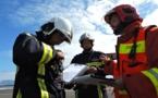 Les secours mobilisés après le crash d'un Boeing 777 (exercice)
