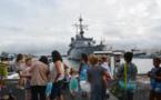 Le Prairial de retour à Papeete après trois mois de mission dans le Pacifique