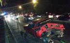 Spectaculaire accident et gros embouteillages à Punaauia