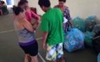 Des taies d'oreiller, des coussins et des couvertures pour les sinistrés de Mahina