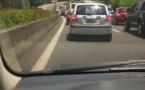 Une fuite d'eau au PK 9 provoque un gros embouteillage : les automobilistes en colère