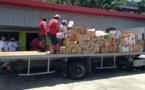 Sinistrés de la côte est : neuf tonnes de denrées alimentaires livrées