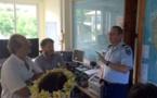SOS Suicide en visite au centre opérationnel de la gendarmerie