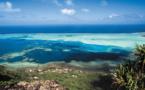 "Carnet de voyage - Maupiti : le bleu ""maurua"" du mont Teurafaatiu"