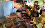 Les enfants de l'école Saint-Michel 1 s'initient à la préparation du chocolat