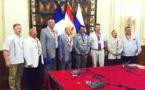 Une délégation russe en visite