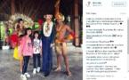 Laeticia Hallyday et ses filles sont à Bora Bora