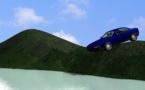 A Faa'a un accident spectaculaire : une voiture en équilibre au bord du vide