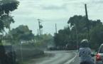 Un camion arrache un câble : la circulation complètement à l'arrêt
