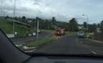 Un feu de voiture à Punaauia