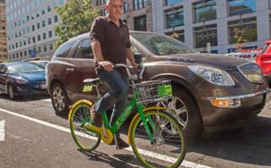 """Le vélo en libre-service """"sans borne"""" débarque à Washington"""
