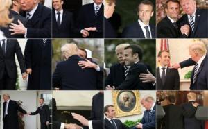 """La relation """"touchy-feely"""" Macron/Trump fait rire l'Amérique"""