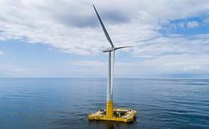 La première éolienne flottante a commencé à alimenter le réseau électrique