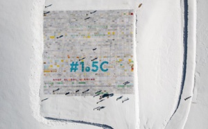 Climat : Record Guinness de la plus grande carte postale sur un glacier suisse