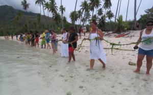 Une cérémonie malgré le report du Tāhei Auti ia Moorea