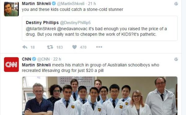 """L'homme """"le plus détesté des Etats-Unis"""" se moque de lycéens australiens"""