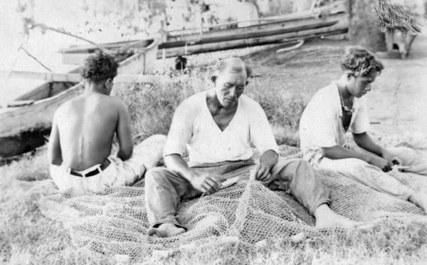 Scènes de la vie polynésienne du Tahiti d'antan
