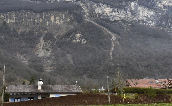 Un éboulement rocheux menace 88 maisons dans l'Ain