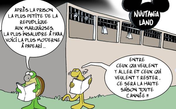 """"""" Le centre de détention de Papeari """" vu par Munoz"""