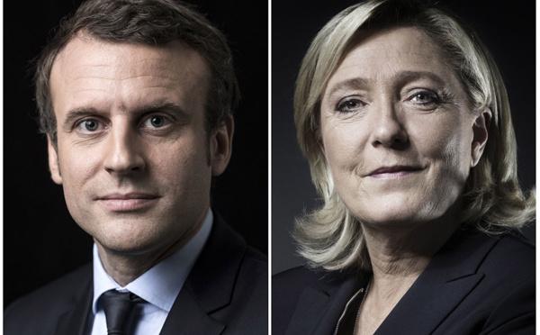 Présidentielle: Macron serait largement élu face à Le Pen malgré un écart réduit
