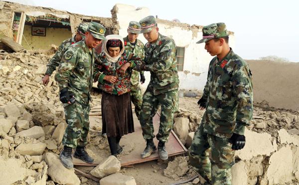 Chine: un séisme fait huit morts dans le Xinjiang