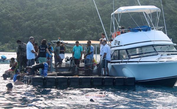 Campagne de réensemencement de poisson Marava à Vairao